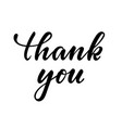 thank you hand drawn calligraphy and brush pen vector image vector image