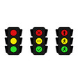 Traffic light icons set yes no and wait stand