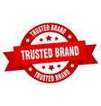 trusted brand ribbon trusted brand round red sign vector image vector image