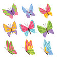 watercolor colors butterflies isolated on white vector image vector image