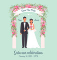 wedding invitation poster solemn happy wedding vector image