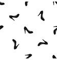 women shoe with heels pattern seamless black vector image vector image