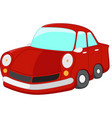 red car cartoon vector image