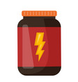 whey protein in a jar cartoon vector image