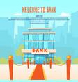 a modern bank vector image