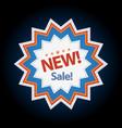 new sticker sale discount symbol vector image