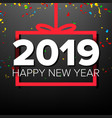 2019 happy new year background numbers vector image vector image