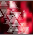 abstract blurred red background with triangles vector image vector image