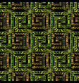antique geometric 3d meander seamless pattern with vector image vector image