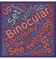 Astronomy BinocularsuA Great Alternative 1 text vector image vector image
