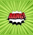 bang comic wording template vector image vector image