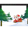 Banner with Christmas vector image vector image
