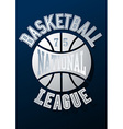 Basketball National League on a navy blue vector image vector image