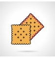 Biscuits flat icon vector image