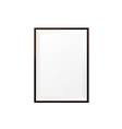 Blank wood photo frame on white background eps10 vector image