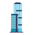 buildings architecture on white background vector image