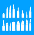 bullet gun military icons set simple style vector image