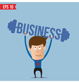 Business man lifting business barbell - - EP vector image vector image
