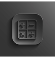 Calculator icon - black app button vector image vector image