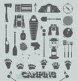 Camping and Outdoors Icons and Symbols vector image