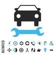 Car Repair Flat Icon With Bonus vector image vector image