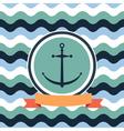 card on sea anchor vector image