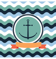 card on the sea anchor vector image vector image