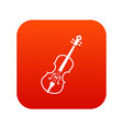 cello icon digital red vector image vector image
