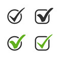 check mark icons green and black check mark in vector image vector image