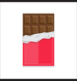 chocolate bar icon vector image