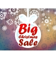 Christmas sale background EPS10 vector image vector image