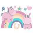 chubby baby unicorns vector image vector image