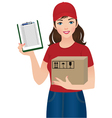 Courier delivery services vector image