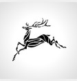 creative deer silhouette vector image