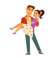 dating couple romance and romantic love vector image