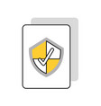 document with security shield isolated icon vector image