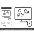 E-learning line icon vector image vector image