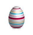 easter egg isolated on white background vector image