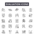 evaluation line icons signs set outline vector image