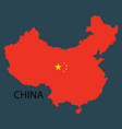 flag map of republic of china vector image vector image