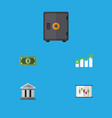flat icon gain set of diagram growth bank and vector image vector image