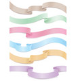 flowing satin or silk ribbons collection vector image