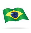 flying brazilian flag brazil silk vector image