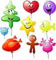 funny xmas colorful balloons vector image vector image