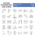 future technology thin line icon set innovation vector image vector image