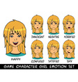game character girl emotions set vector image vector image