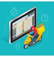 Geolocation gps navigation touch screen tablet and vector image vector image
