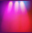 Glowing nightclub lights spotlights background vector image