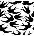 graphic silhouettes of flying birds vector image