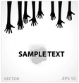 hands sign black color vector image vector image